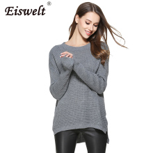 Sweater Womens 2017 Autumn Winter Cashmere Blended Sweater O-Neck Pullovers Long Sleeve Jumpers Women's Knitted Sweaters