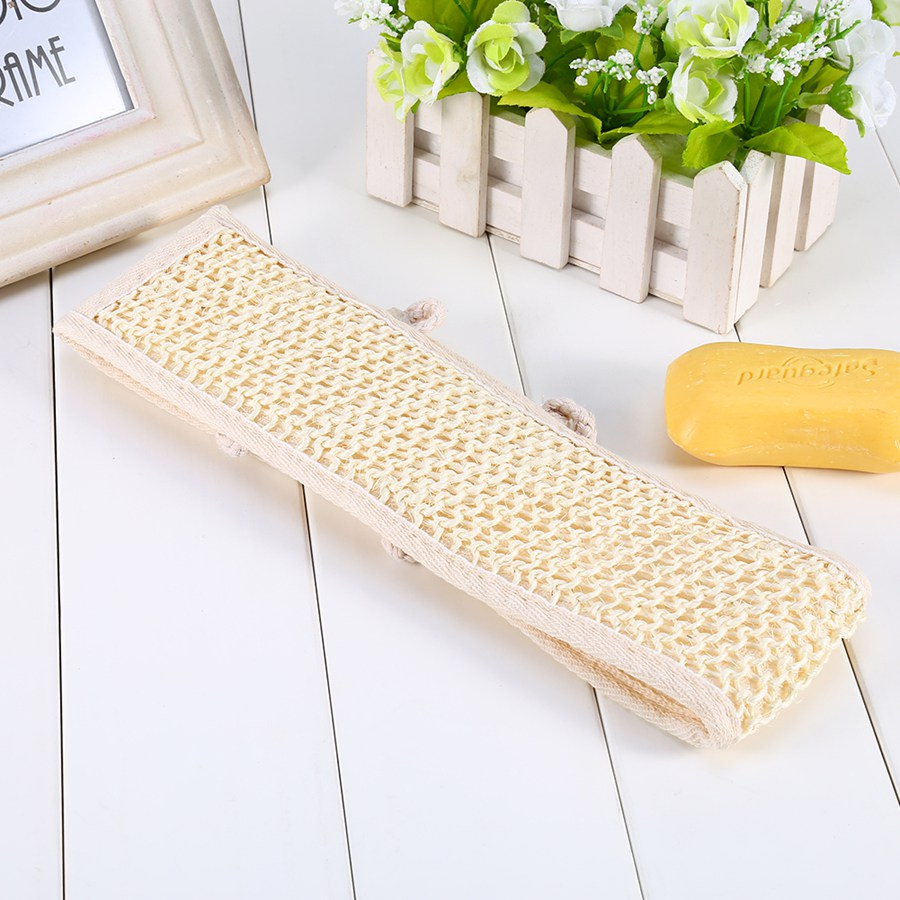 Natural Loofah Sponge Bath Shower Exfoliating Back Strap