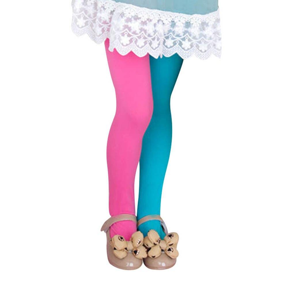 Kinder Zwei-farben Strumpfhosen Samt Strumpfhosen Für Kinder Kleidung Kind Mädchen Süßigkeiten Farbe Strumpfhosen