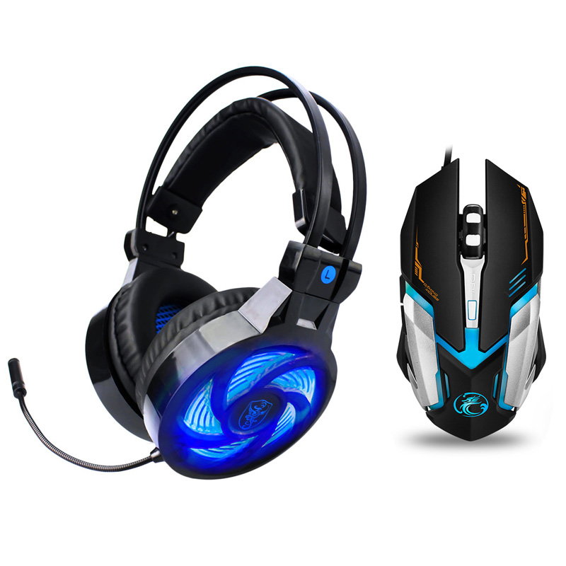 Soyto PS855 PS4 Headset Bass Gaming Headphones Game Earphones Casque with Mic Led for PC Mobile Phone New Xbox One Tablet