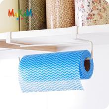 MAIKAMI New Iron Kitchen Tissue Holder Hanging Bathroom Toilet Roll Paper Towel Rack Cabinet Door Hook