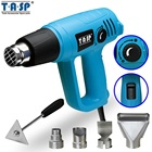 TASP 2000W Hot Air Gun Electric Heat Gun - Variable Temperature 60~600C - 3 Temp Settings - 5 Nozzles & Scraper Power Tools