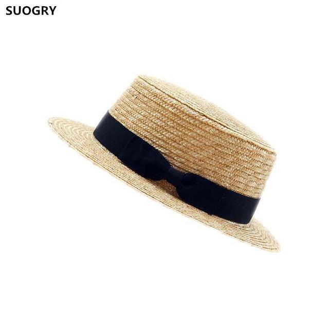 Mujeres verano Playa Sol sombreros 2017 Nuevo Flat Top sombrero de paja  hombres navegante sombreros Bone d3b652cf80d