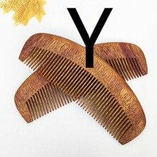 TI33 Green Sandalwood comb Increase Thicker Green Tan Comb Sandalwood Comb Hair Comb