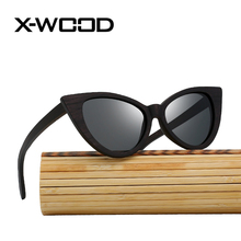 X-WOOD Zebra Wood Sunglasses Women Polarized Sunglasses Men Brand Designer Mirror Vintage Fashion Cat Eye Bamboo box  Sunglass