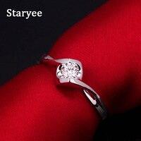 Fashion 14K White Gold Heart Shape 0 50 Carat Lab Created Moissanite Engagment Rings For Women