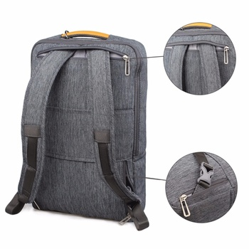 2019 WIWU Laptop Backpack 17.3 15.6 15.4 14 Canvas Waterproof Backpack Leather Bag for Macbook Pro 15 Men's Backpack Laptop Bag 1