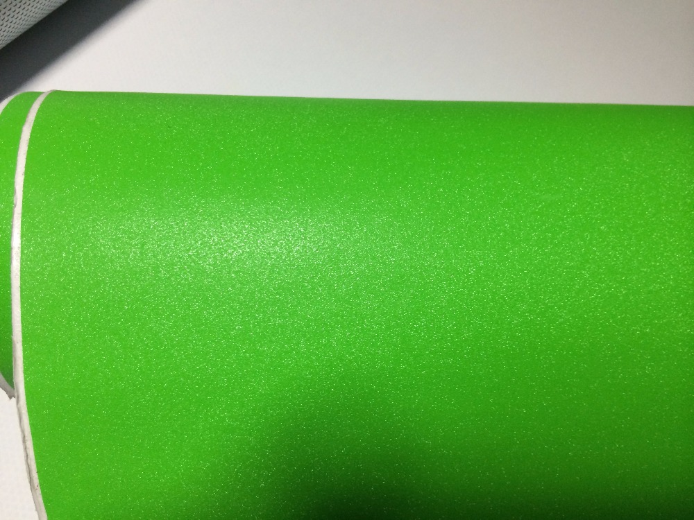 apple green glitter vinyl wrap (2)