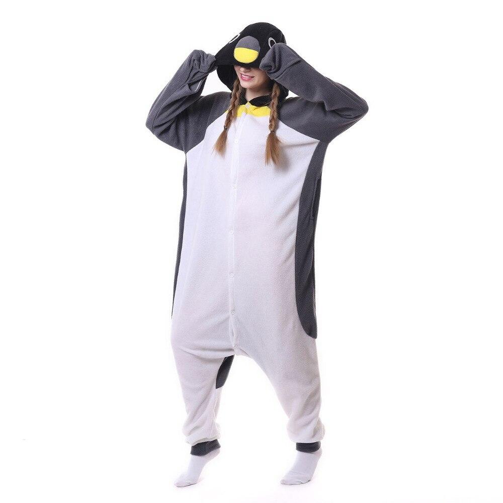 a485d6b9c3 Grigio penguin Tutina Unisex Tutina Adulto Pigiama Costumi Cosplay  Indumenti Da Notte Della Tuta Halloween Party