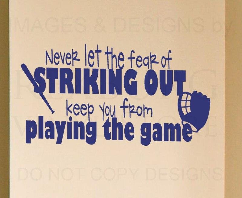 Online Get Cheap Baseball Wall Decor Aliexpresscom Alibaba Group - Vinyl vinyl wall decals baseball