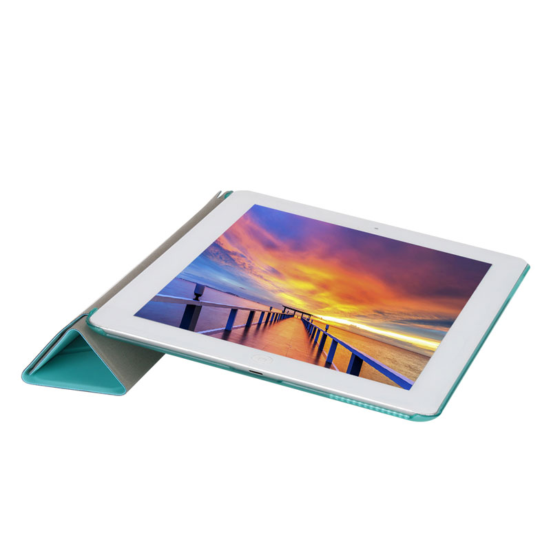 Multi folded Tablets Case For iPad 2 3 4 Smart Protective Cover PU PC Connection Translucent PC Hard Tablet Case For iPad 4 Case in Tablets e Books Case from Computer Office