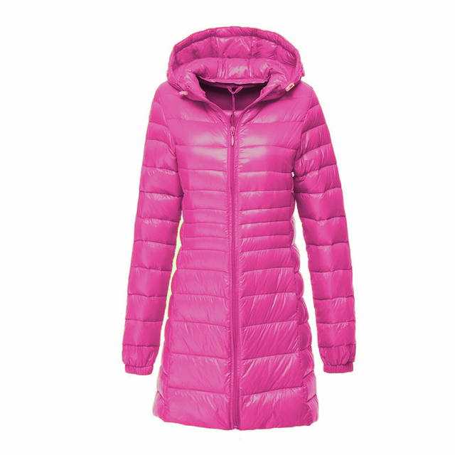 Long Waterproof Winter Coat With Bag