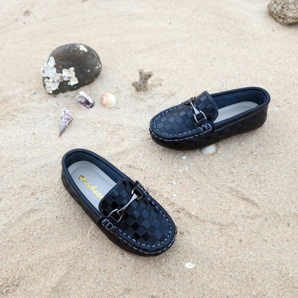 Boys Girls Shoes Fashion Soft Kids Loafers Children Flats Casual Boat Shoes Children's Wedding Moccasins Leather Shoes Autumn