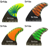 SRFDA Fiberglass High quality Surf Fins G5 3 PCS Future Fins Quillas Keels Surfboard Honeycomb