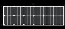 Usine prix flexible panneau solaire 40 W, soleil batterie 12 V, avec Retour Côté boîte de Connexion, pour 12 V batterie solaire système