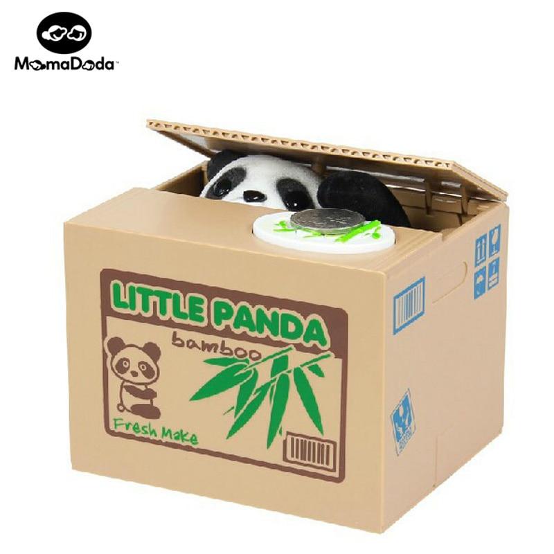 장난 꾸러기 돼지 저금통 자동 전기 스톨 동전 상자 리틀 팬더 개 고양이 머니 박스 재밌는 장난감 피기 은행 아이들 생일 선물