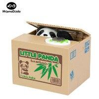 Unfug Sparschwein Automatische Elektrische Stola Münze Box Kleine Panda hund Katze Spardose Lustige Spielzeug Sparschwein Kinder Geburtstag geschenk