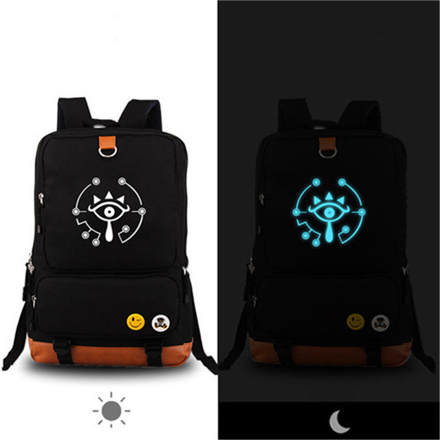 2017 New High Quality Hot Game The Legend of Zelda Link Luminous Printing Backpack Canvas Oxford School Bag Mochila Escolar
