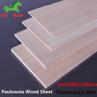HAUBAY Paulownia Wood Sheet Material 1000x100x10/12/15/20/25/30mm lots of 5pcs Wooden Sheets for DIY Crafting Shopping On Sale