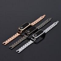 Promotion Wrist Strap Metal For Xiaomi Mi Band 2 OLED Smart Bracelet Miband 2 Wristbands Silver