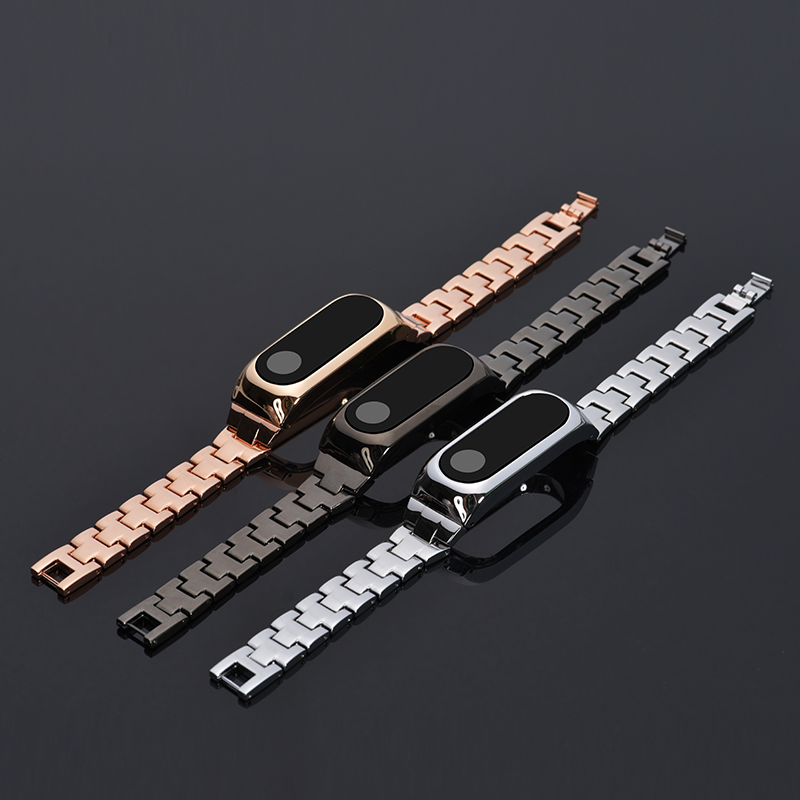 Metal Strap For Xiao Mi band 2 Screwless Stainless Steel Bracelet for Mi band 2 Wristwraps Replace Strap Promotion Wrist Strap