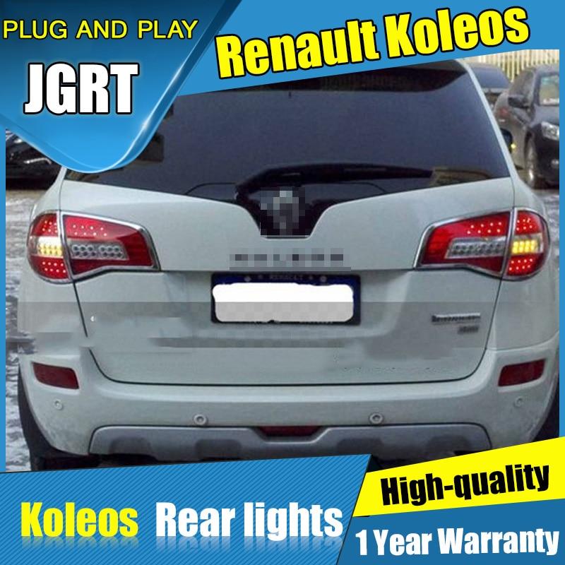 4PCS Car Styling for Renault Koleos Taillights 2014 2014 for Renault Koleos LED Tail Lamp+Turn Signal+Brake+Reverse LED light