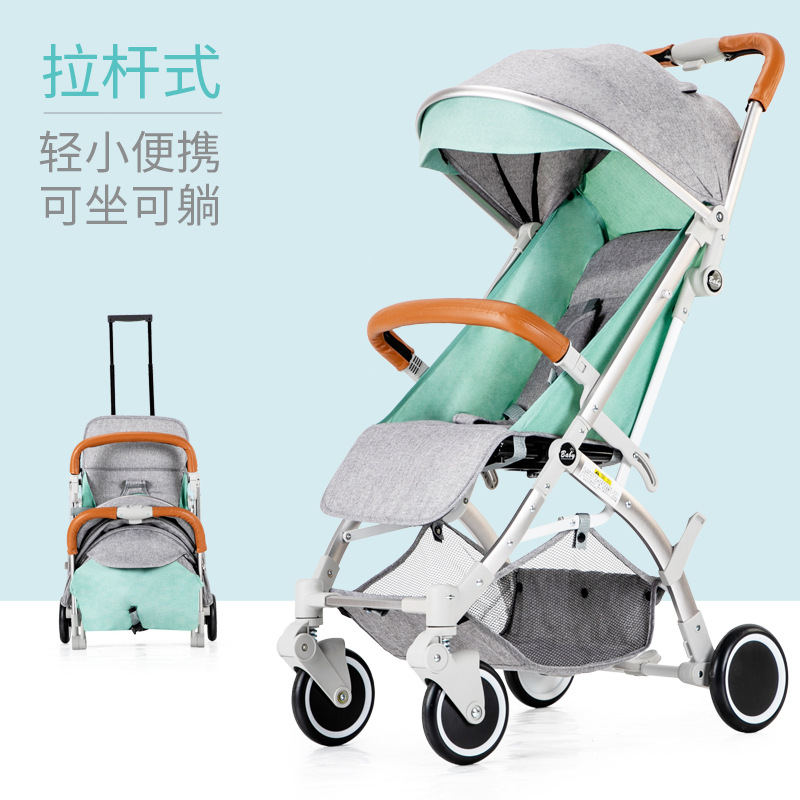 Baby stroller  Ultra-light Portable baby trolley Reclining And Folding Rod Mini Child Pocket Umbrella carts can be on plane