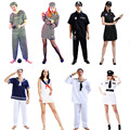 Prisoner Costume Sailor Clothing Adult Halloween Carnival Costumes Fun Fancy Dress Party Supplies