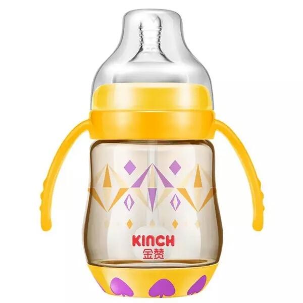 Cute baby botella taza de bebé recién nacido los niños aprenden de alimentación bebederos botella mango paja niños bottlesl agua jugo