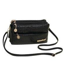 Small Shoulder Bag Crocodile Pattern Designer Bag font b Women b font Messenger Bags for font