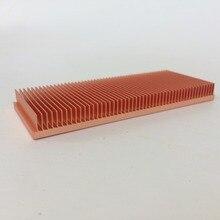 DIY pure copper radiator Cu1100 Skiving Fin Radiator 100x40x10mm