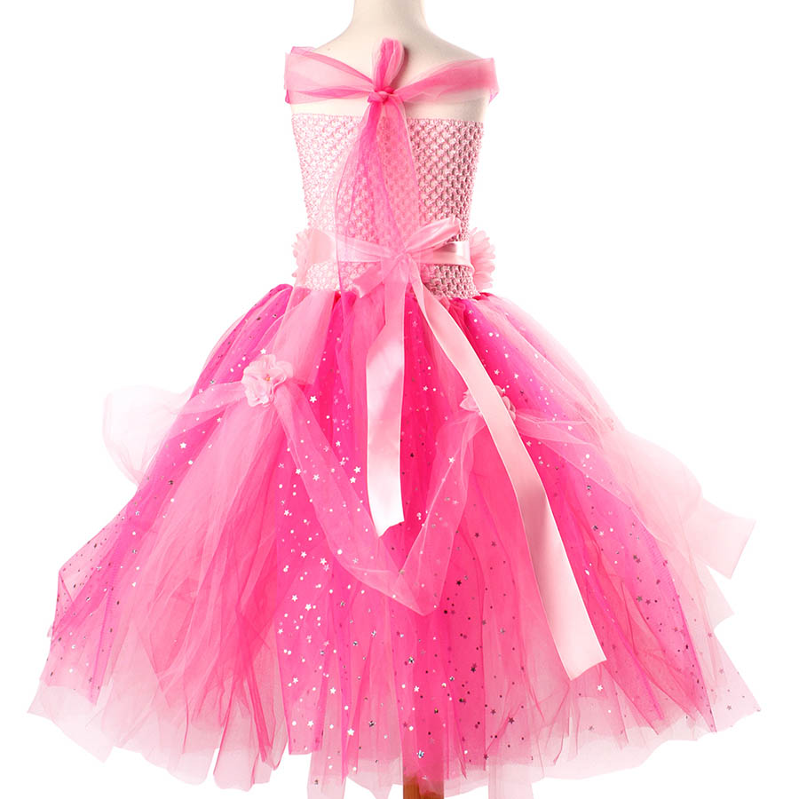 Beautiful Princess Tutu Gown for Weddings Birthday Dress Baby Girl Flower Tutu Dress Glittery Children Fancy Party Christmas Costumes (8)