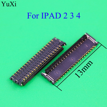 цена на YuXi New touch screen digitizer FPC connector For ipad 2 3 4 ipad3 ipad4 socket on logic board 37PINs