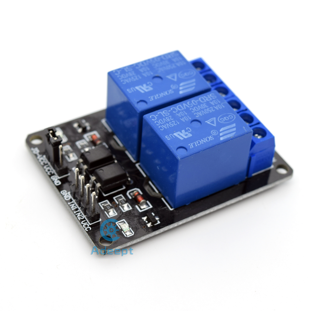 Adeept Neue 5 V 2-kanal Relaisplatine Modul für Arduino Himbeer Pi - Intelligente Elektronik - Foto 3