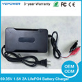 DC 69.35V 1.5A 2A LifePO4 Battery Charger For 19S 60V lifepo4 Battery Pack