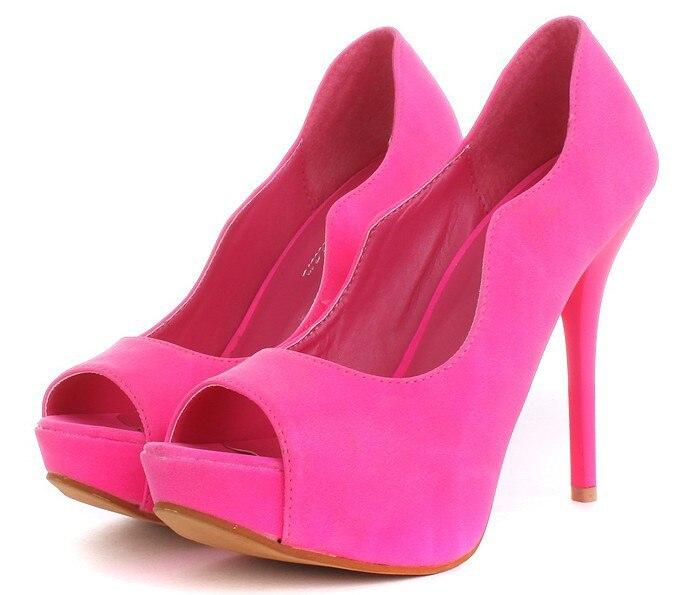 Ladies Pink High Heel Shoes - Red Heels Vip