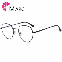 MARC 2018NEW Glasses Frame WOMEN Men Vintage Metal Lens Optical Plain Alloy Resin solid Clear 1065
