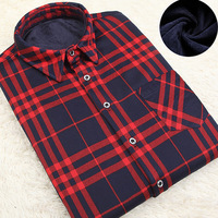 Flannel Shirts Men Long Sleeve Shirt Men Casual Winter Cotton Shirt Plaid Single Breasted Turn down Collar Warm Casual Shirts