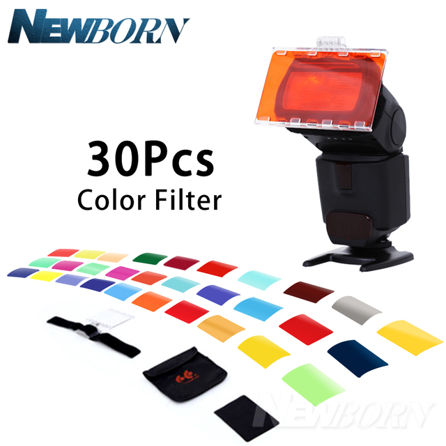 פלקון עיני CFA 30K ערכת פלאש Speedlite 30 צבעים צבע ג ל עם Barndoor & רפלקטור & תיק עבור Canon Nikon YONGNUO GODOX פלאש