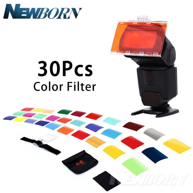 FALCON Mắt CFA 30K Bộ Đèn Flash 30 Màu Gel với Bộ Barndoor & Phản Quang & Túi dành cho Máy Ảnh Canon Nikon YONGNUO ĐÈN Flash GODOX