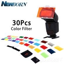 Falcon Eyes CFA 30K Kit Flash Speedlite 30 Farben Farbe Gel mit Torblende & Reflektor & Tasche für Canon Nikon YONGNUO GODOX flash