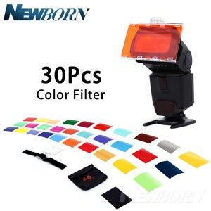 Image 1 - Falcon Occhi CFA 30K Kit Flash Speedlite 30 Colori Gel di Colore con Barndoor & Riflettore & Bag per Canon Nikon YONGNUO GODOX flash