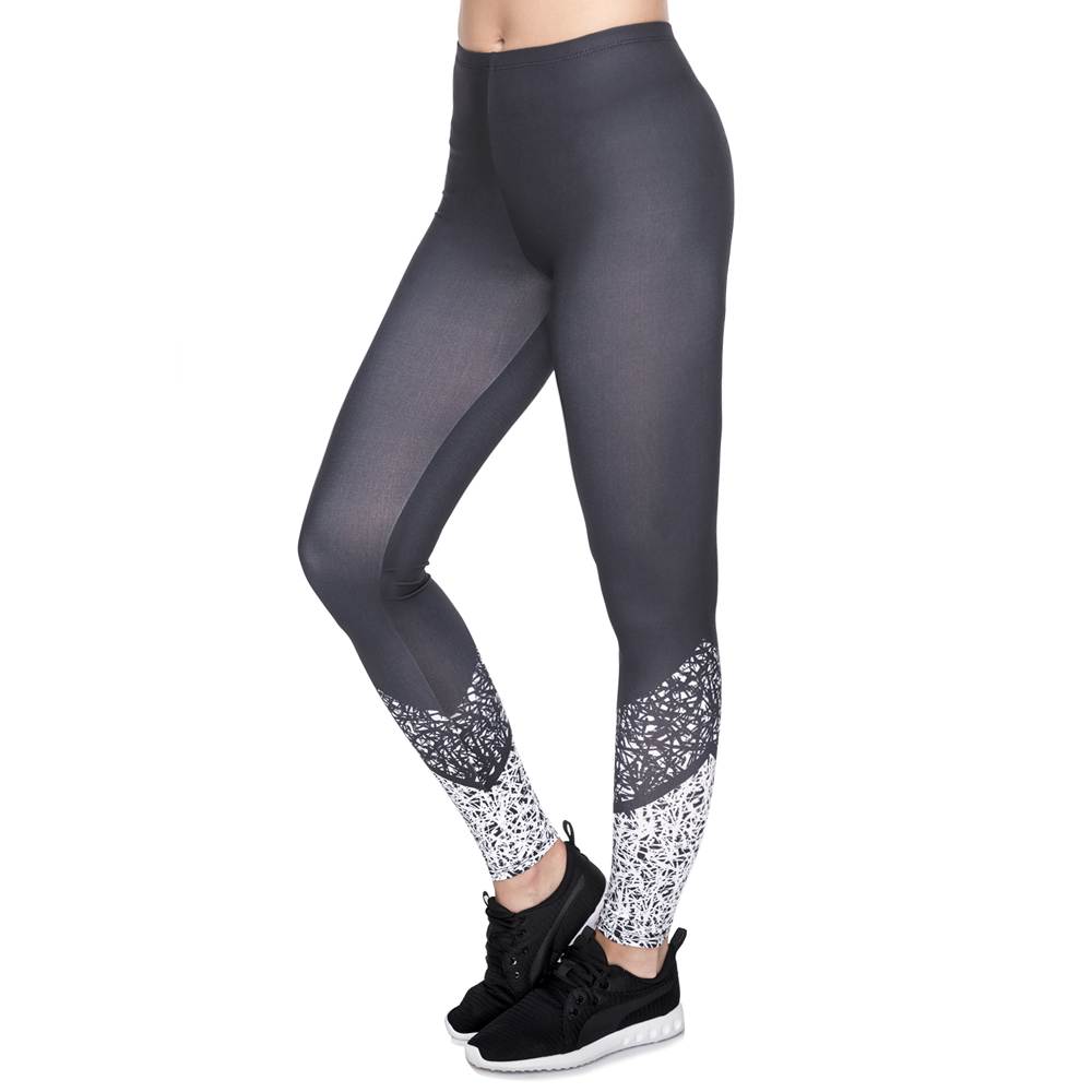 Hot Sale Leggins Mujer Black Stitching Printing Legging Feminina Leggins Fitness Woman Pants Workout Leggings
