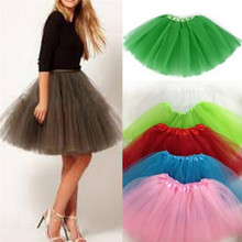 New Women Girl Pretty Elastic Stretchy Tulle Teen 3 Layer Adult Tutu Skirt Costume Petticoat For Dance Halloween Party Fancy