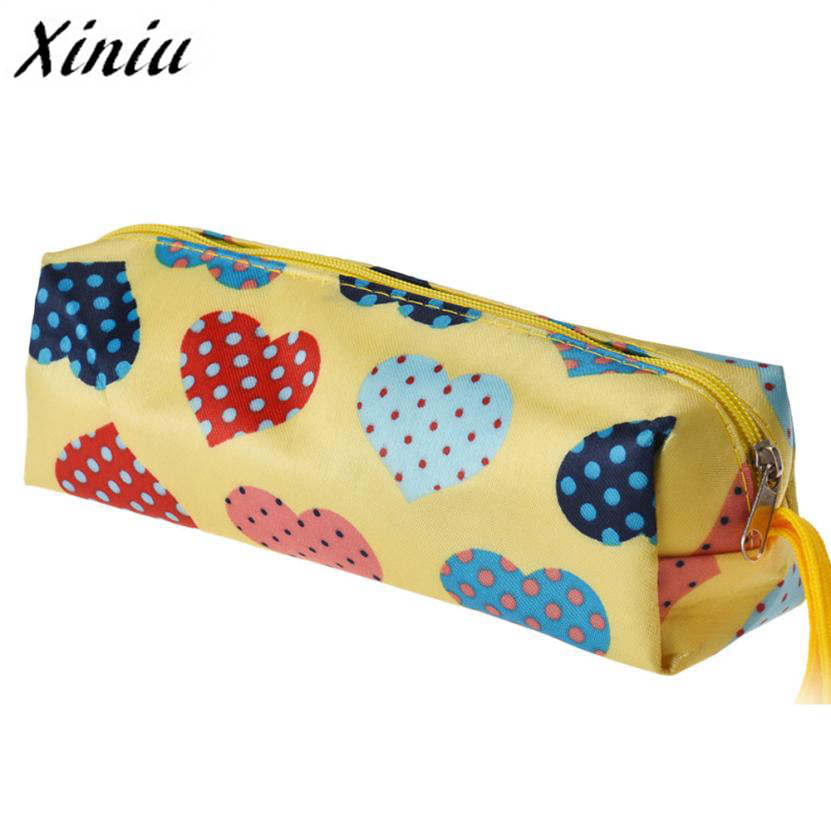 Xiniu Cosmetics Bag Makeup Heart Square Multicolor Cosmetic Bag Travel Pouch Taavel Organizador Rangement Maquillage A0711Yin цена
