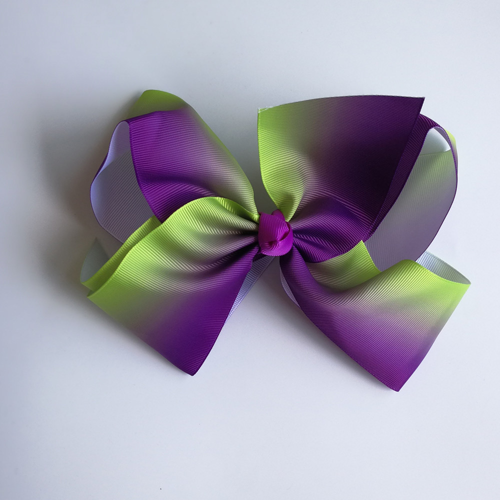Wholesale JO JO 8 grosgrain ribbon hair bows hair clips boutique rainbows bow girls hairbow For Teens Gift 120pcs/lot