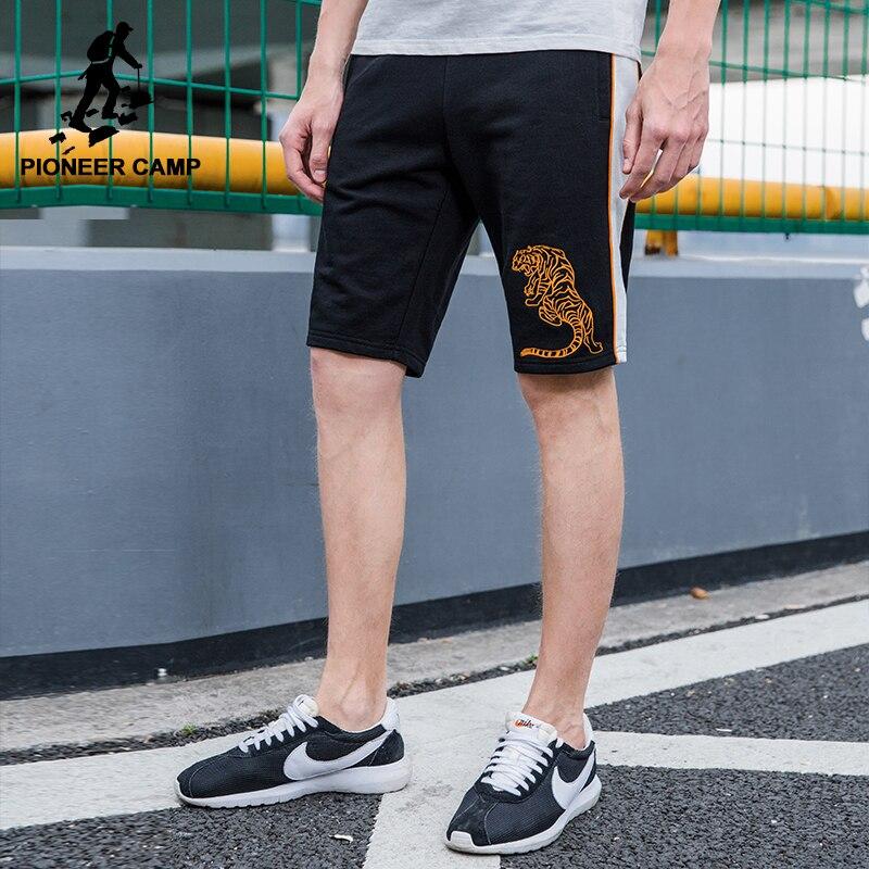 Пионерский лагерь летние шорты брендовая мужская одежда тигр рисунок вышивки повседневные шорты мужской наивысшего качества бермуды Шорт...