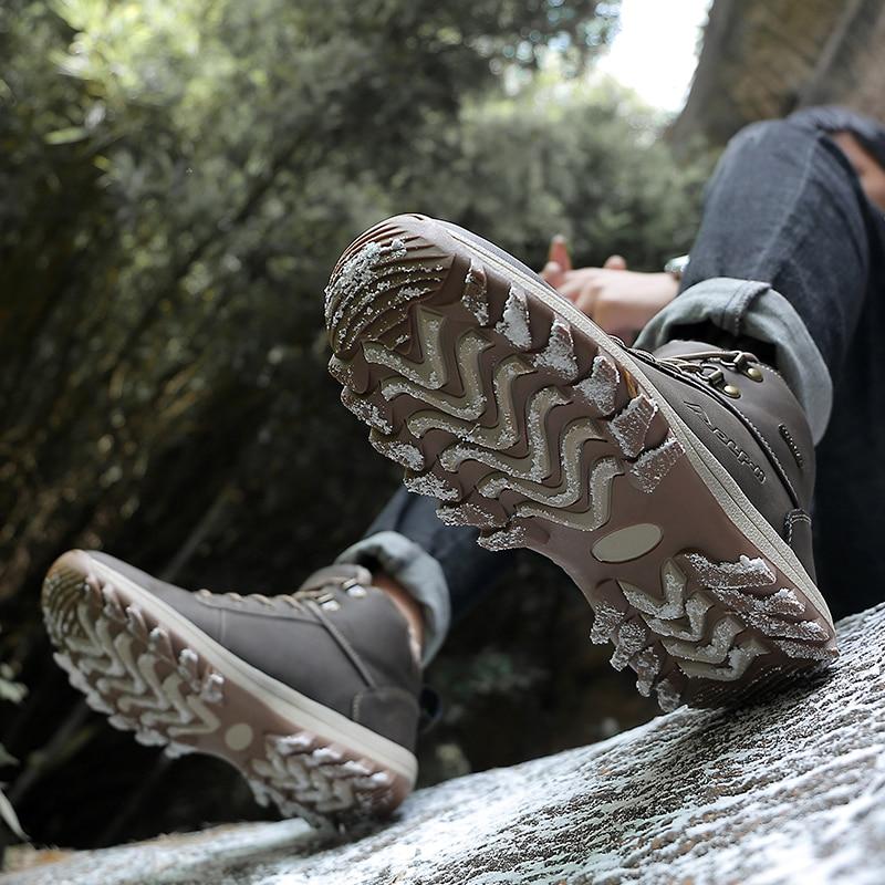 Confortable De Chaussures X3 Brown Mode Cheville Sneakers Bottes Hommes Casual À 2018 Pour Lacets black D'hiver YFzI1O