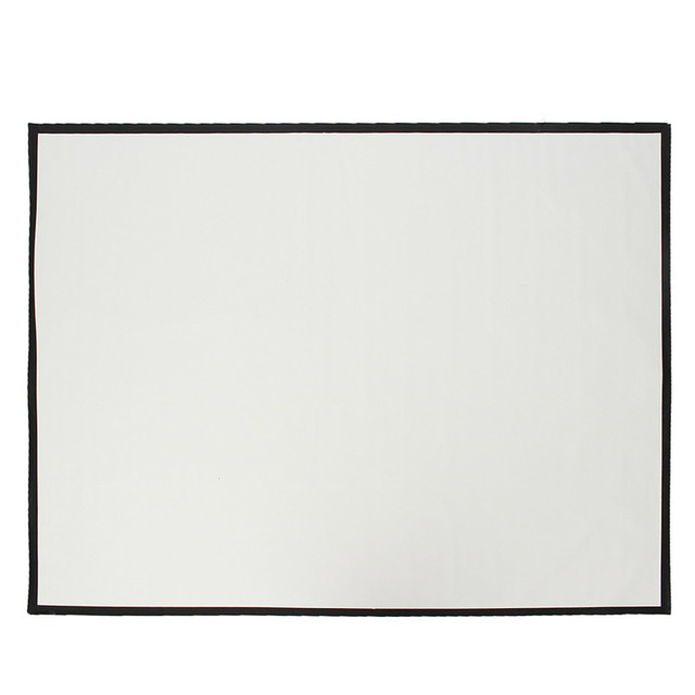 Portable 100 Inch 4:3 Black+White PVC Fabric Matte Projector Projection Screen To HD Projector Durable Projection Screens