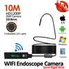1200P 8mm 8LED Semi Rigid Snake USB WIFI Endoscope Camera 10M 7M 5M 3 5M 2M